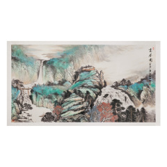 《深山高居图》国画典藏 货号121608