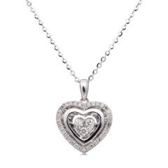 VAPO心心相映钻石项链套组 货号122053