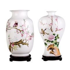 (满庭春)玲珑瓷对瓶 货号124684